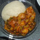 Ghana Recipe: Banku with Okra Soup