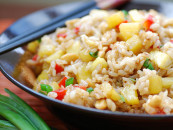 Add an asian twist to your fried-rice. Recipe for Pineapple fried rice.