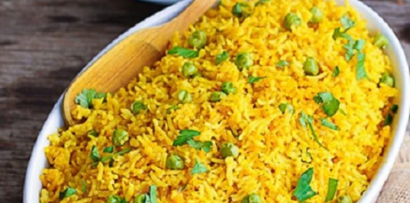 Turmeric Rice also known as Yellow Rice Recipe