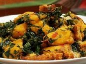 Nigerian Yam & Vegetable with Ukpaka (Ugba)